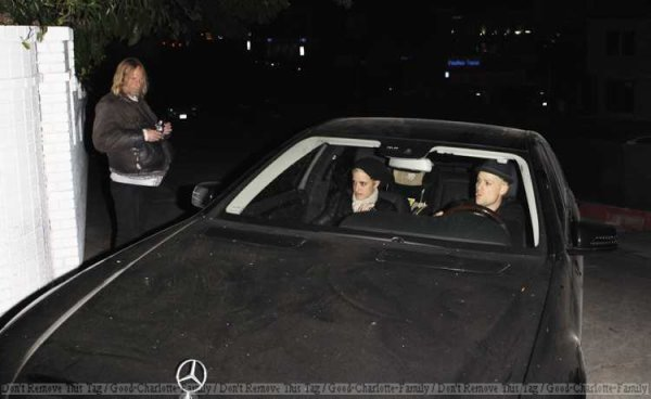 Joel Madden leaving Chateau Marmont with samantha Ronson - 8th March 2012