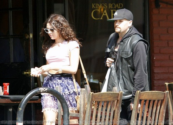 Benji Madden, Eliza Doolittle & friend in L.A at Kings Road Cafe - 12th march 2012