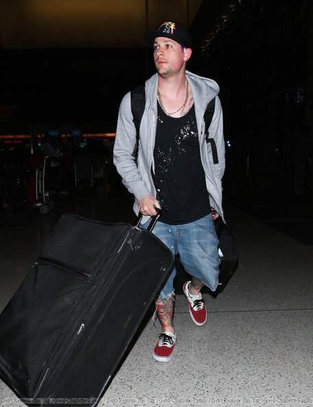 Joel Madden at LAX go to Australia - 14th march 2012