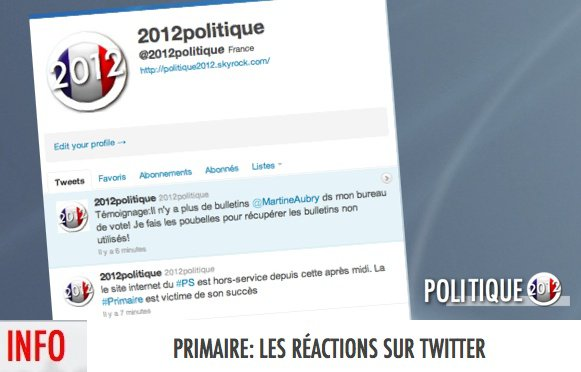 1ER TOUR DE LA PRIMAIRE: LES RACTIONS SUR TWITTER
