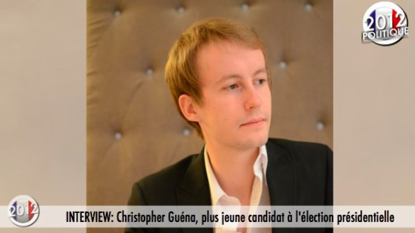 INTERVIEW: Christopher Gu�na, plus jeune candidat � l'�lection pr�sidentielle