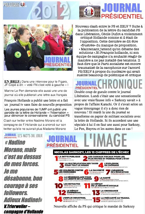 JOURNAL PR�SIDENTIEL N�17