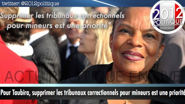 Pour Taubira, supprimer les tribunaux correctionnels pour mineurs est une priorit